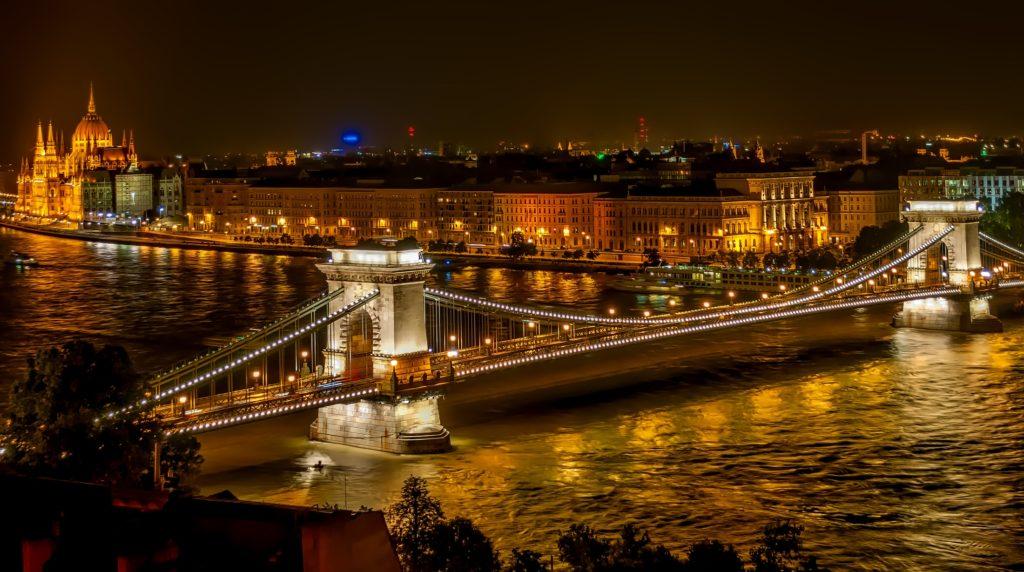Szechenyichain bridge budapest